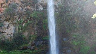 La chute d'eau Lone Creek