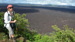 Le plancher de la plus vaste caldera des Galapagos