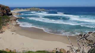 L'océan Indien, la plage pour moi toute seule… Le rêve ! Route des Jardins, Afrique du Sud