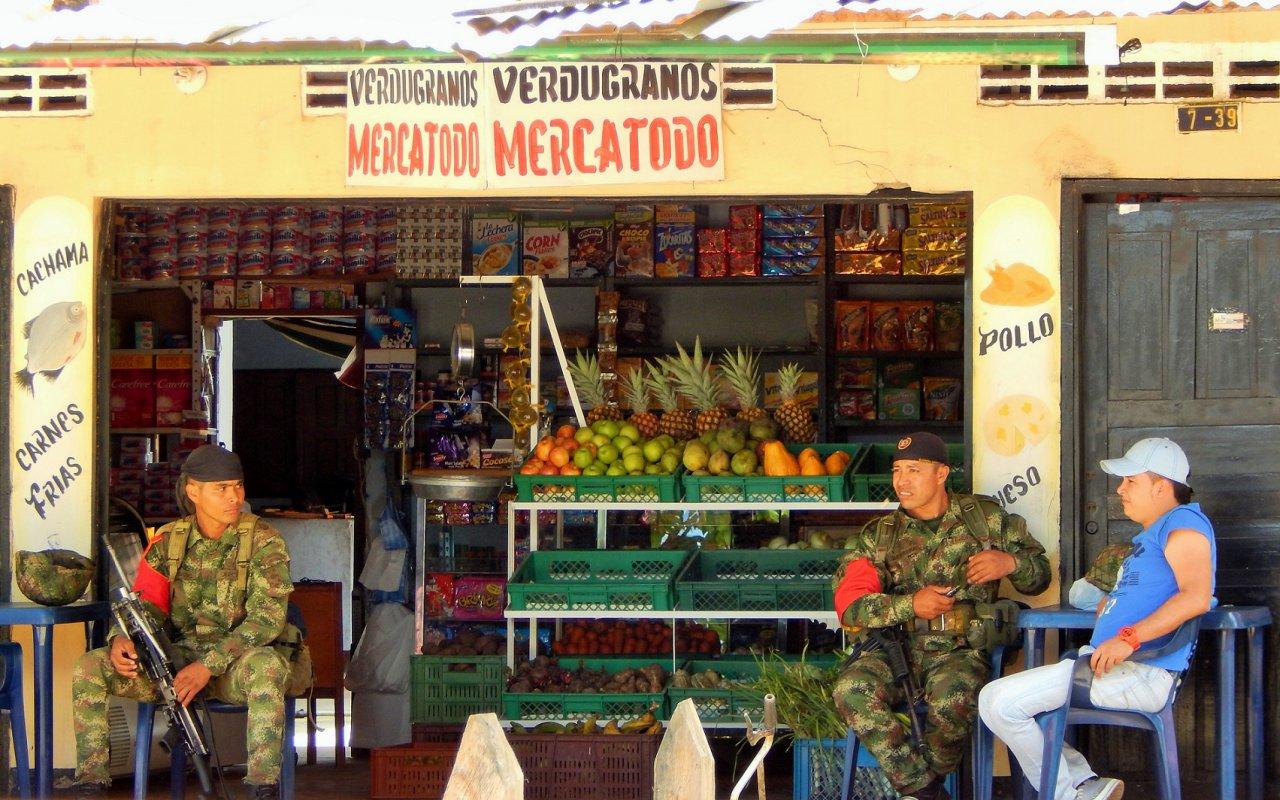 Magasin de rue au village de La Macarena – Colombie