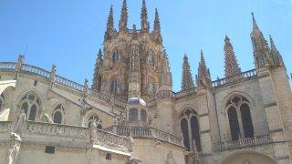 Magnifique cathédrale gothique de Burgos. Troisième cathédrale d'Espagne par ses dimensions.