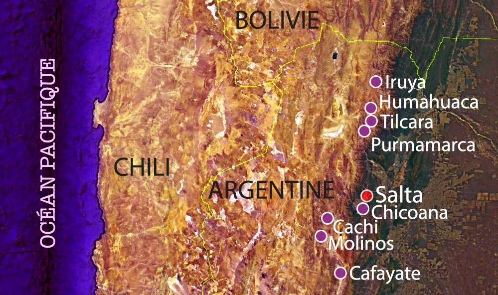 carte d'expédition nord-ouest argentin
