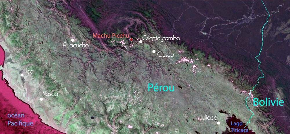 Carte du Sud du Pérou – Trek de Valérie au départ de Cusco