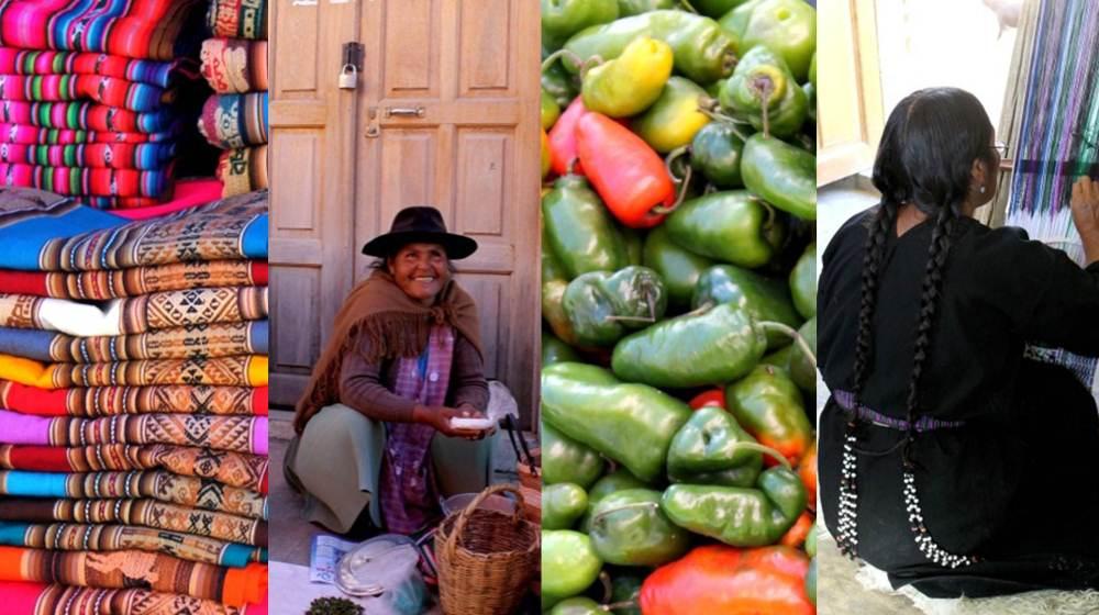 Marché artisanal et de fruits et légumes de Tarabuco, Bolivie