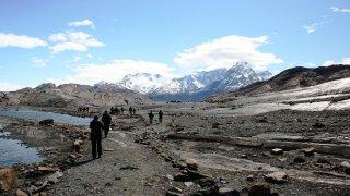 Marche vers le Mirador du glacier Upsala – excursion 4×4 Estancia Cristina, El Calafate, Patagonie argentine