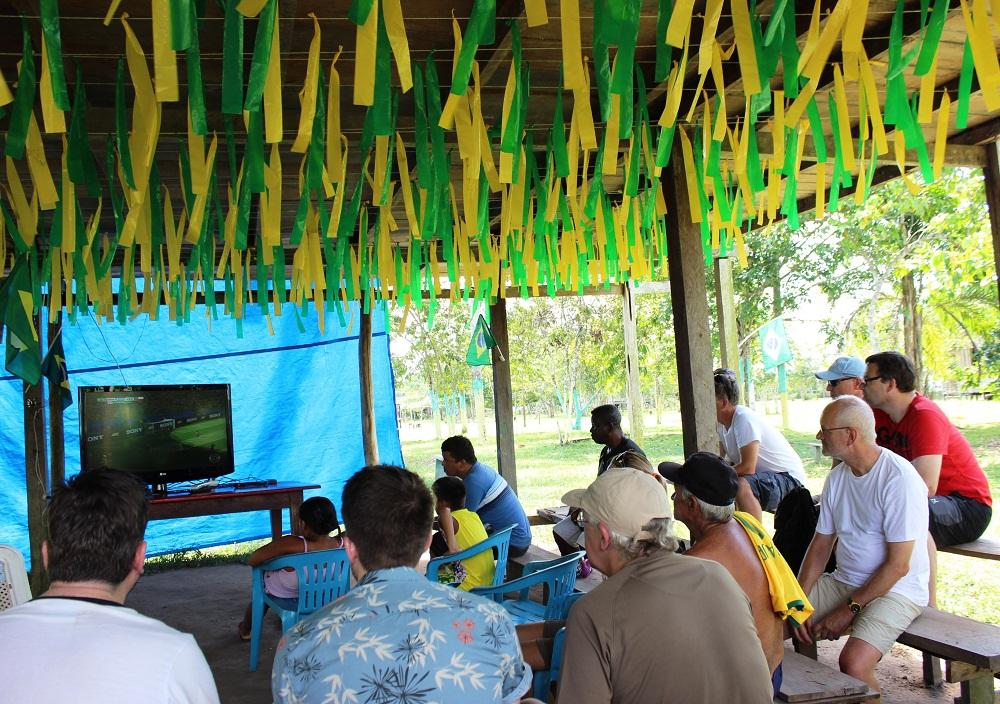 Match de foot en Amazonie brésilienne