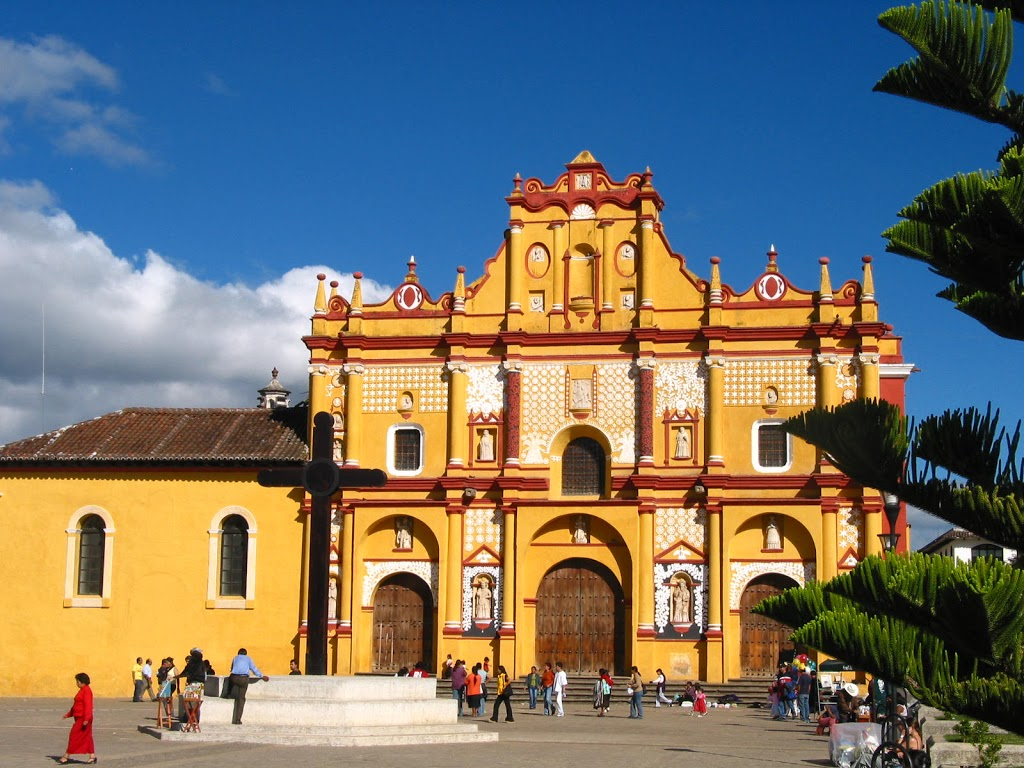 Eglise de San Cristobal de las Casas au Mexique