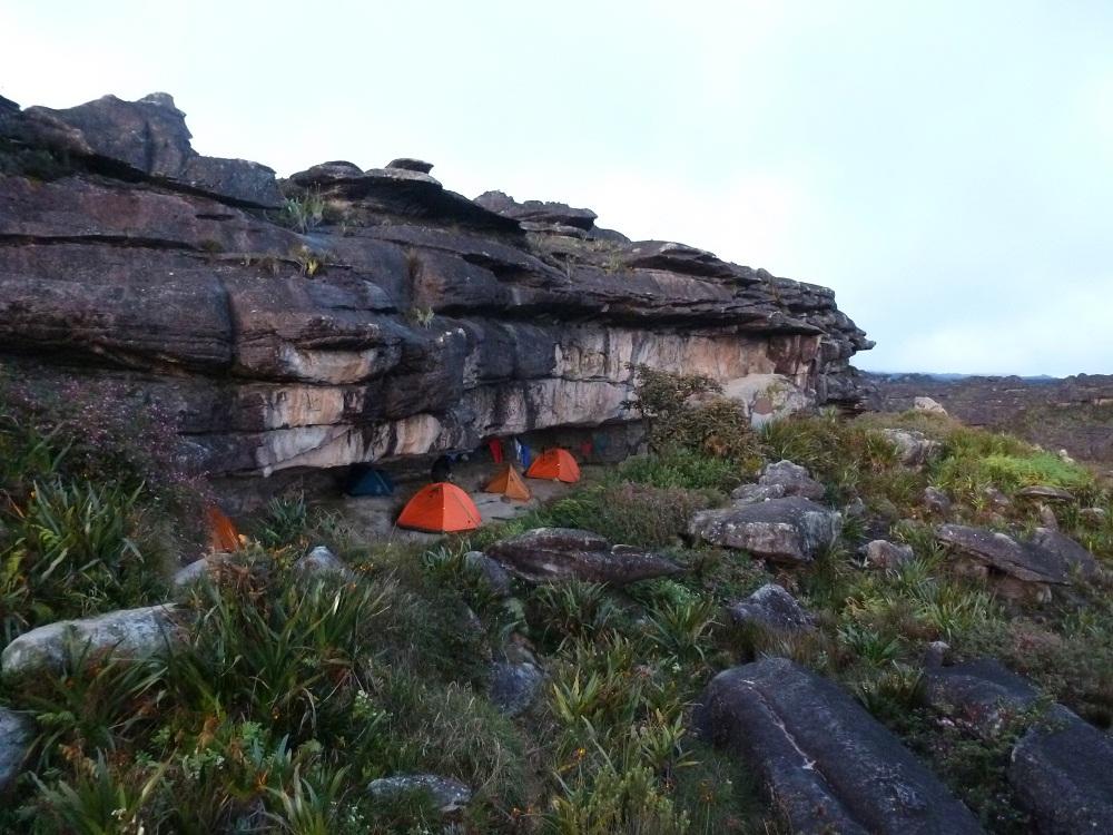 Monte Roraima – campement au sommet