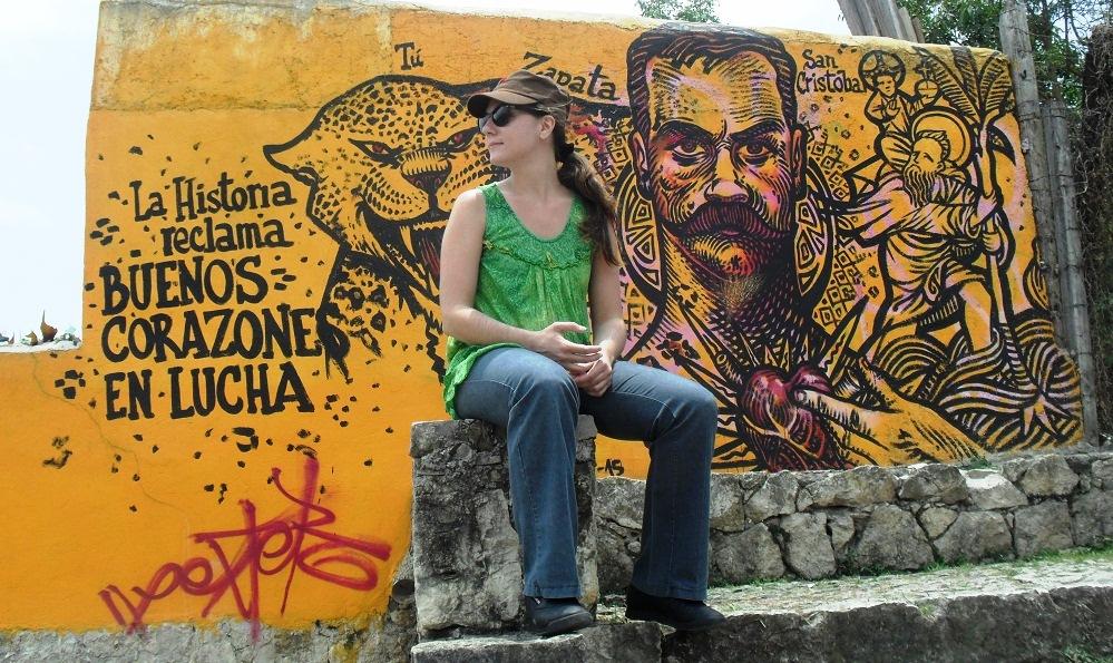 Peinture murale en hommage à Zapata