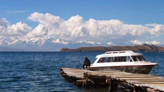 Navigation vers les îles – Lac Titicaca, Bolivie