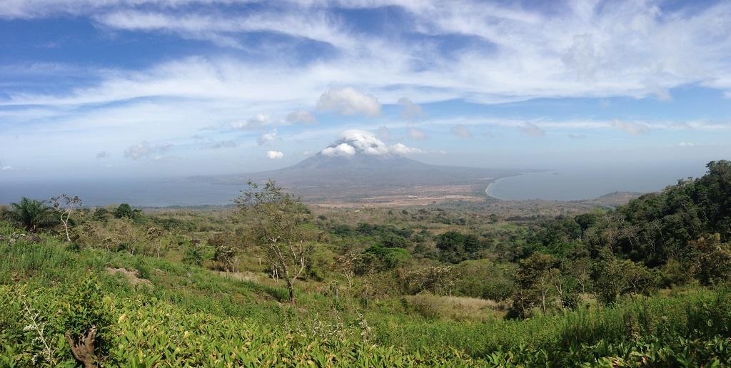 Panorama mirador Maderas, Nicaragua