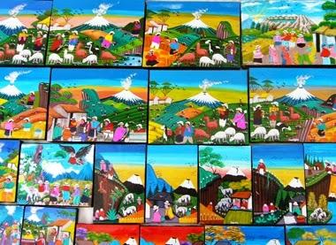 Peintures de Tigua, Equateur