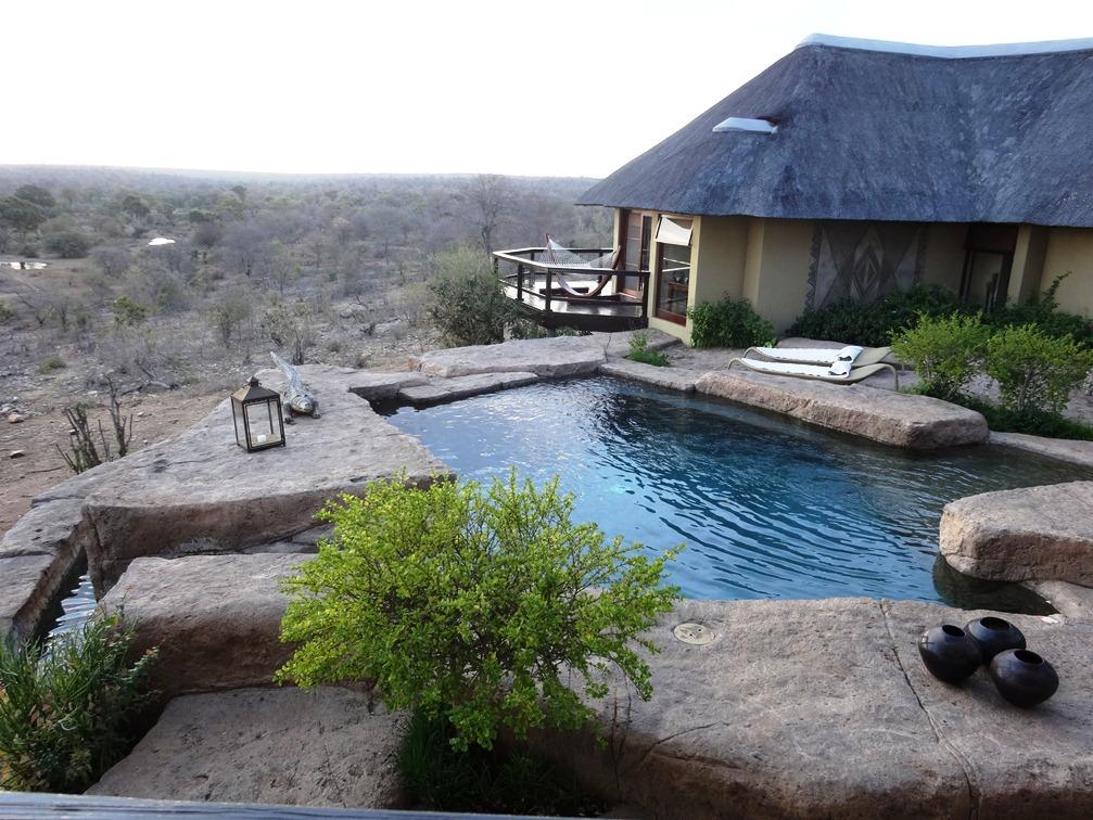 Vue imprenable depuis le Lodge Makumu dans la réserve de Klaserie