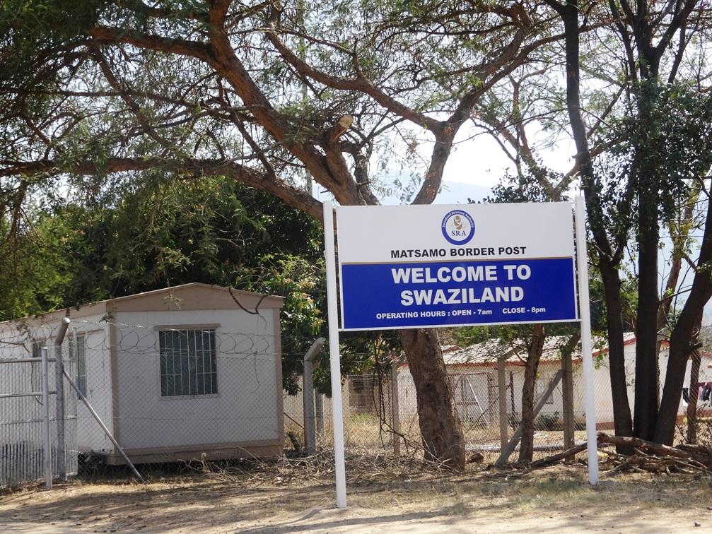 Poste frontière à l'entrée du Swaziland
