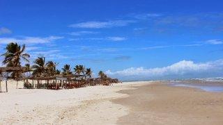 Plage de sables blancs, Mangue Seco, Brésil
