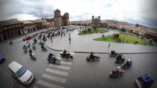 Plaza de armas à Cusco au Pérou