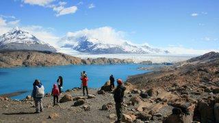 Point de vue sur le glacier Upsala – excursion Estancia Cristina, El Calafate, Patagonie argentine