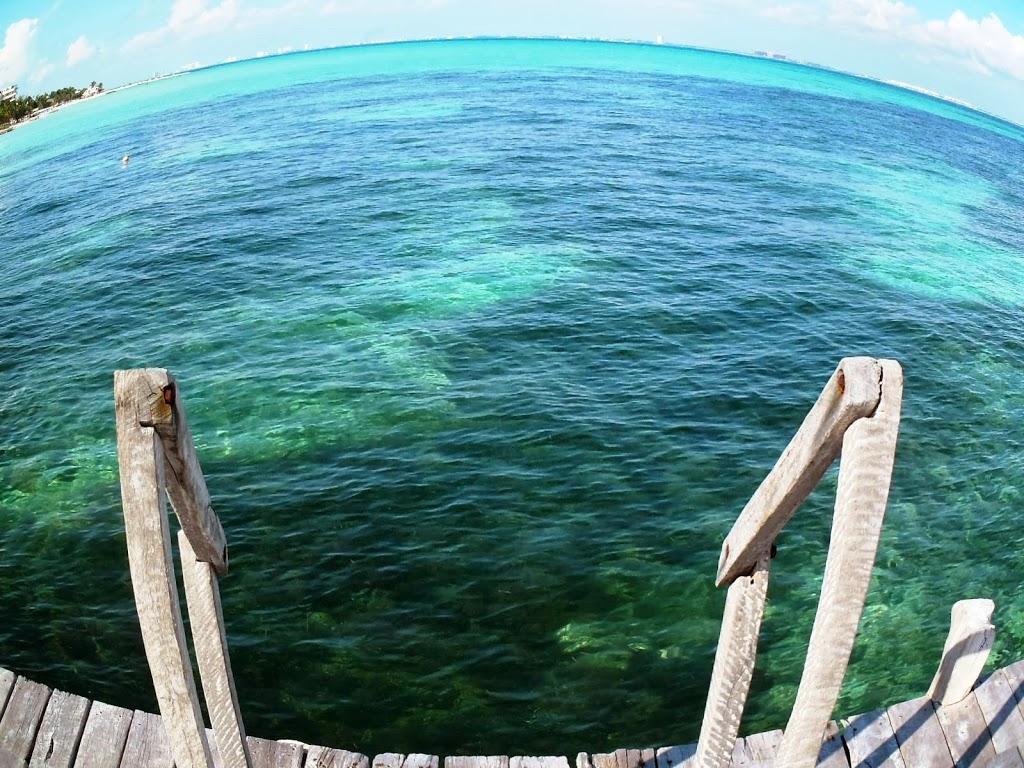 Ponton de plongée – Mer des Caraibes au Mexique