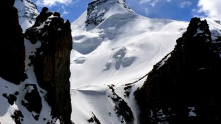 Premier couloir – ascension Condoriri, Bolivie