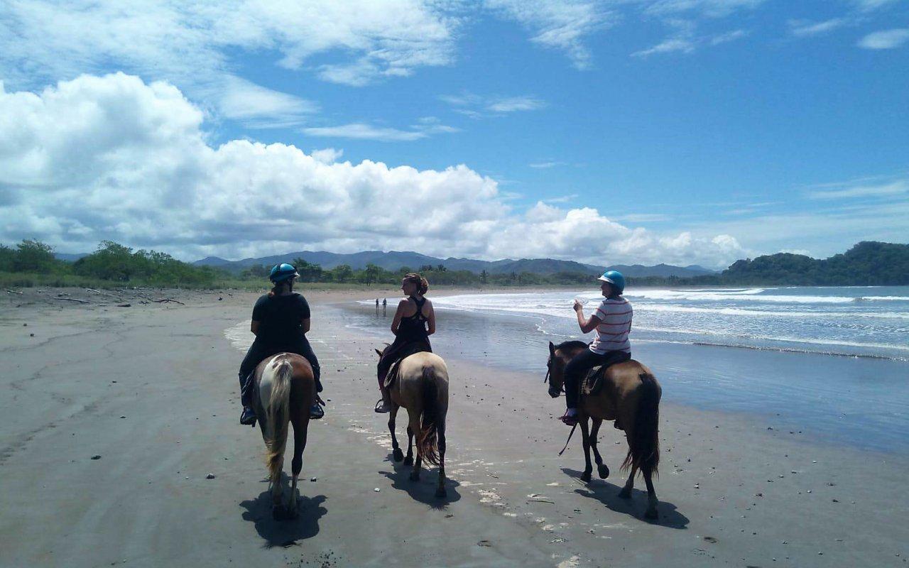 Randonnée à cheval sur la plage de Samara