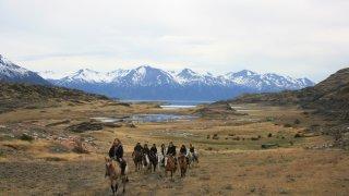 Randonnée équestre autour de l'estancia Nibepo Aike – El Calafate, Patagonie argentine