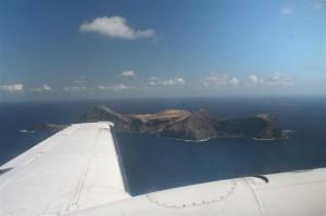 Vue sur l`île Robinson Crusoé au Chili