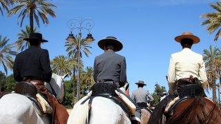 Séville – Cavaliers dans le centre-ville
