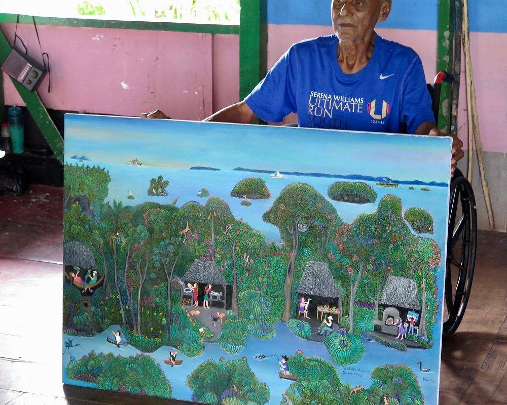 Peintre, archipel Solentiname – voyage au Nicaragua