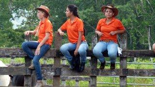 Spectatrices du rodeo – Oro, Costa Rica