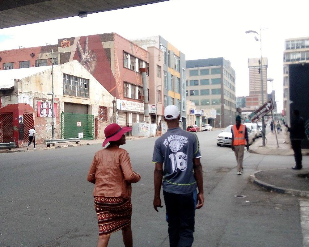 Street life in Maboneng