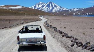 Sur la route de la lagune Miscanti au Chili – Rallye Argentine Chili