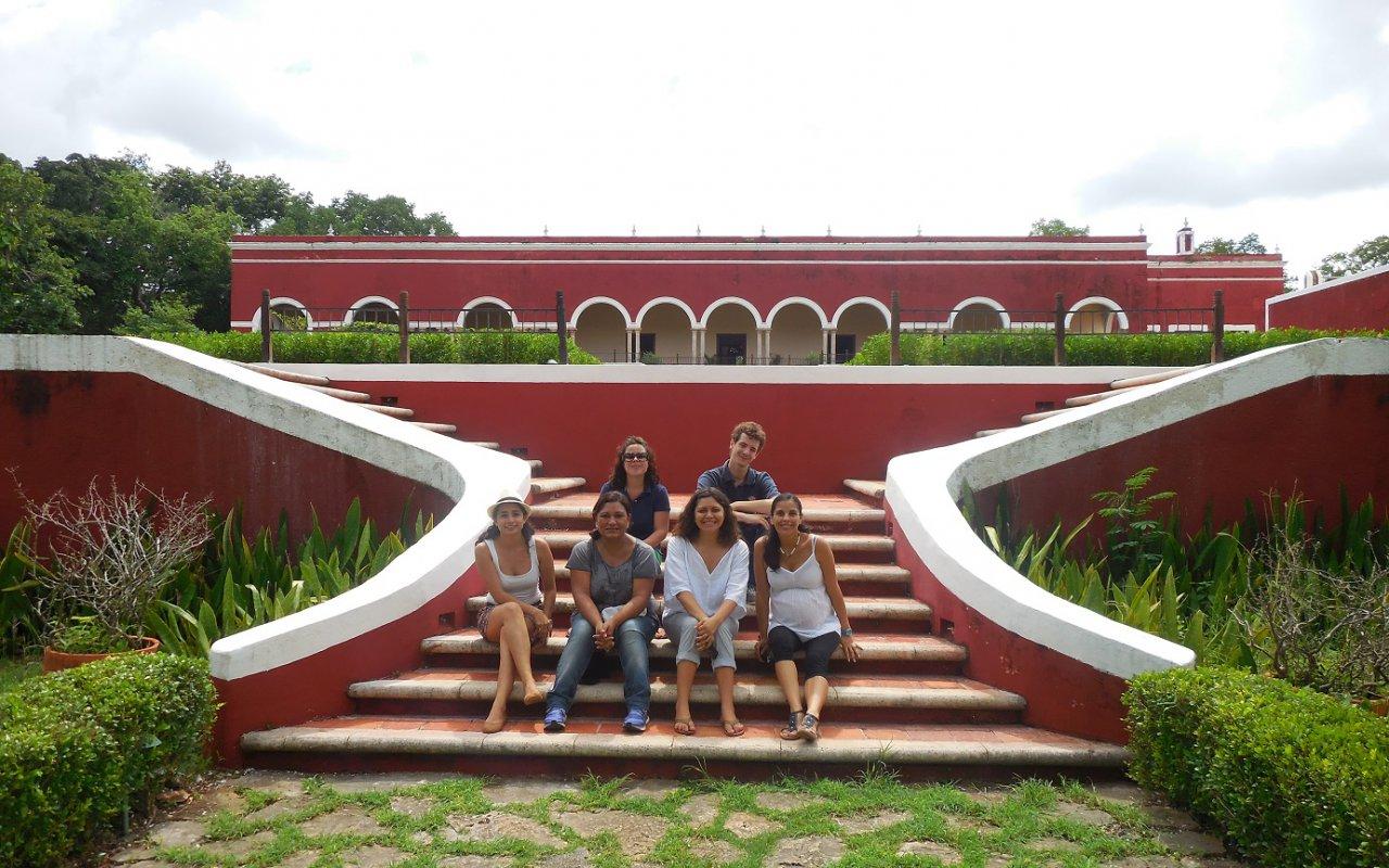 Team Terra Maya : Sophie, Tristan, Fernanda, Claudia, Vania et Carola