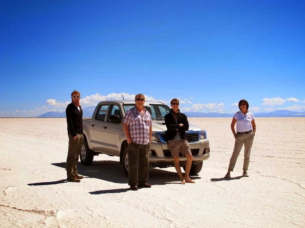 L'équipe au complet dans les Salinas Grandes – Argentine