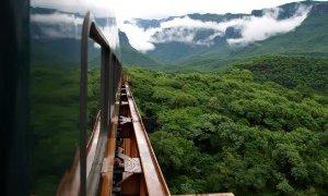 Voyage en train au Mexique