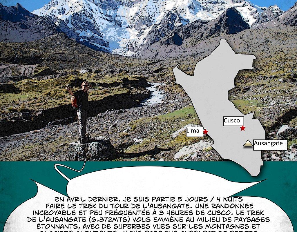 Le Trek de l'Ausangate en BD – Alexandra, Terra Andina Peru, voyages Pérou – page 1