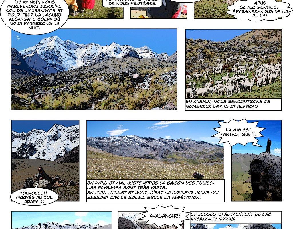 Le Trek de l'Ausangate en BD – Alexandra, Terra Andina Peru, voyages Pérou – page 3