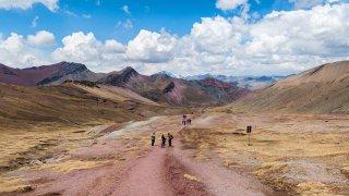 Montagne arc-en-ciel au Pérou