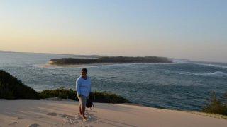 Une vue d'Inhaca Island en haut des dunes de Machangulo
