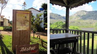 village de Lapinha, vue sur la montagne depuis le village, voyage Brésil