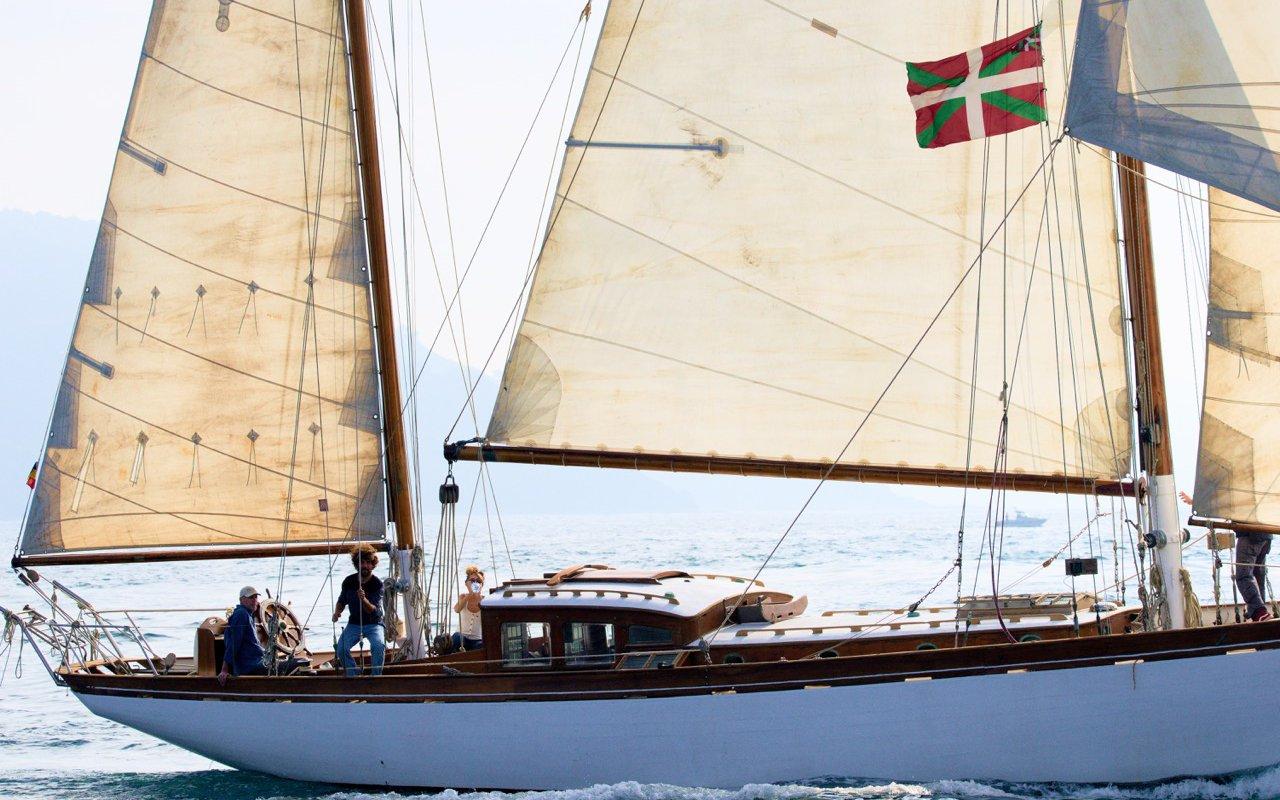 À bord du voilier hollandais dans la baie La Concha – voyage en espagne