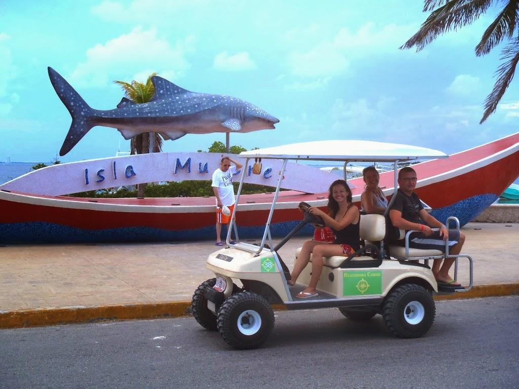 Balade en voiturette sur Isla Mujeres, Caraibes, Mexique