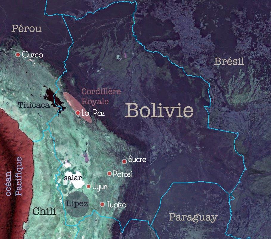Carte de la Bolivie – Sud Lipez – carnet de voyage de Constance, Terra Andina Bolivia