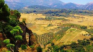 Vue panoramique du Tajo depuis l'hôtel Catalonia – Andalousie
