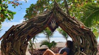 Repos sur la plage Costa Rica